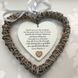 Shabby personalised Chic Special BEST Friend ~ ANY NAME Willow Heart Present BFF - 233008559767